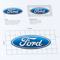 Ford branding blue oval