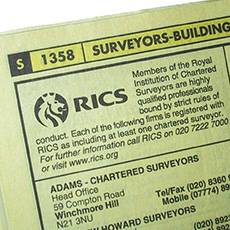 RICS logo in the Yellow Pages